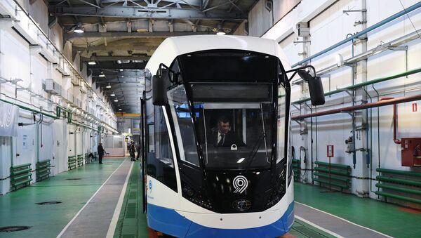 Трамвайный цех Тверского вагоностроительного завода - Sputnik Латвия