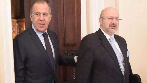 Встреча главы МИД РФ Сергея Лаврова с комиссаром ОБСЕ Ламберто Заньером - Sputnik Latvija