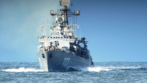 Сторожевой корабль «Ярослав Мудрый» возвращается после выполнения задач боевой службы в Средиземном море - Sputnik Latvija