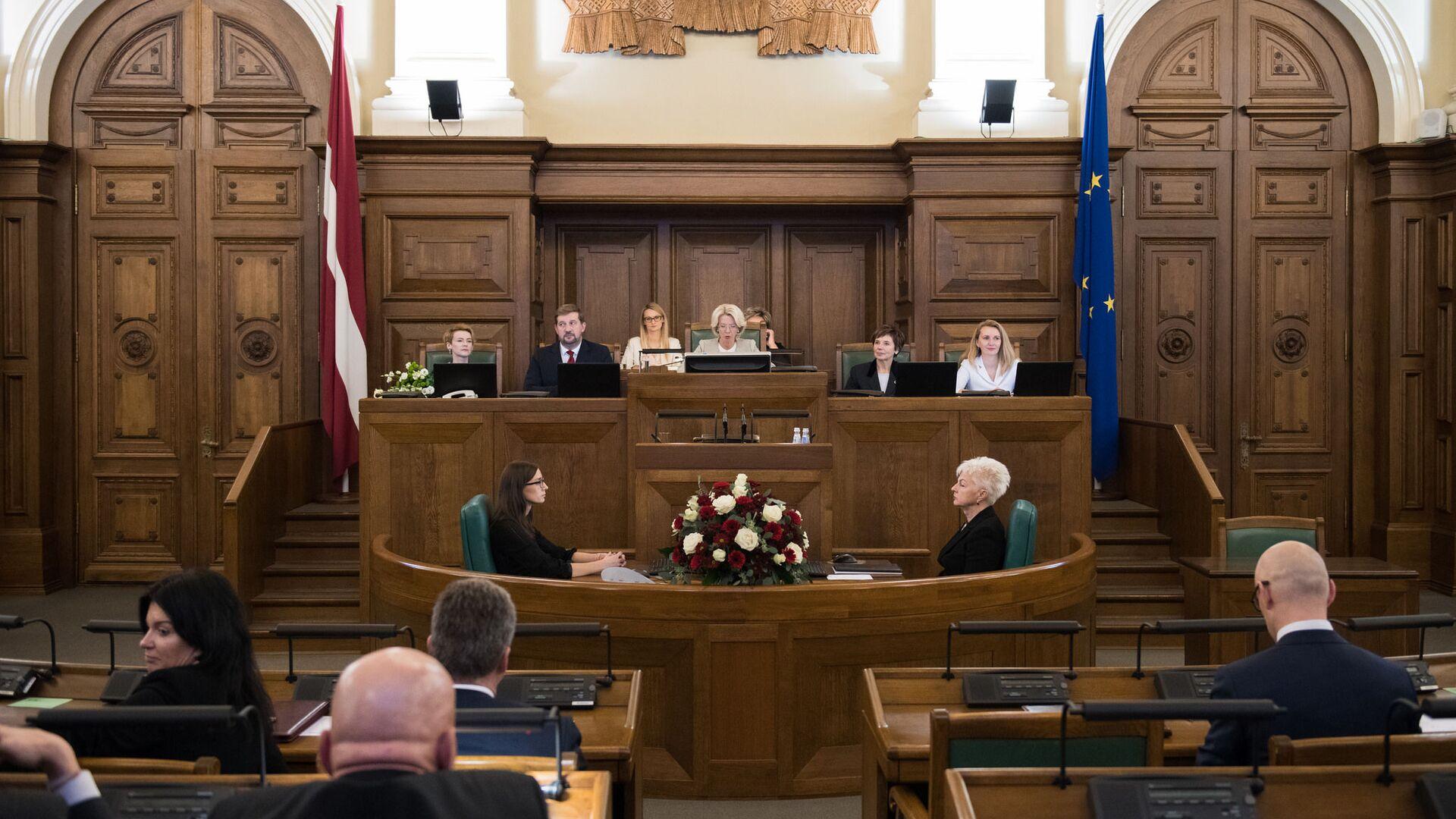 Первое заседание Сейма 13-го созыва - Sputnik Латвия, 1920, 18.06.2021