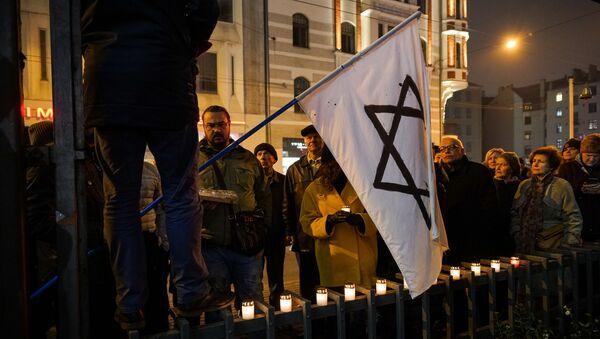 Шествие Памяти в Риге в преддверии Международного Дня против фашизма, расизма и антисемитизма - Sputnik Латвия