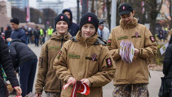 Празднование Дня Лачплесиса в Риге - Sputnik Latvija